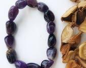 Amethyst Gemmy crystal  Bracelet Men Women