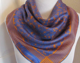 "Anne Klein // Beautiful Colorful Soft Silk Scarf // 22"" Inch 51cm Square"