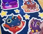 Cute Moonkin (Cutekins!) Vinyl Sticker Sheet 4x6