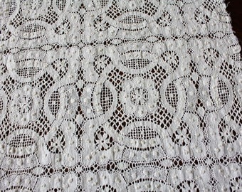 """Antique Lace Table Runner Dresser Scarf Woven Lace 15"""" x 37"""""""