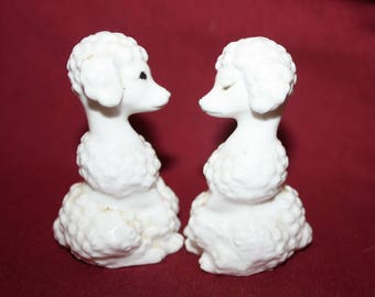 Salt and Pepper Shakers French Poodles Vintage Made in Japan