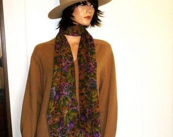 SLOUCHY 60s  Camel LambsWool V Neck Fall Kick Around Sweater By Alan Paine Made In England For Hastings Size 40