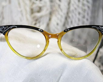 Vintage Cat Eye Glasses for Costume - P