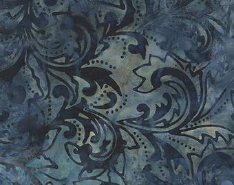 on sale Garden Oasis #51-55 Indigo Blue Batiks Benartex Quilt Fabric Batik by the 1/2 yard