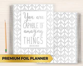 Premium Foil Daily Planner | Customized Foil Planner | Foil Planner | Daily Planner with Foil | 2018 Planner | Amazing Things