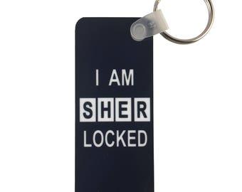 Sherlock Long Rectangle Keychain