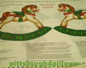New Listing - Cranston - Cut and Sew - Rocking Horse Applique - 4 Large 12 x 11 - 3 Smaller 7 1/2 x 8 - Clean