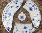 Custom Made Recycled Heirloom BROKEN CHINA PLATE Jewelry - Reserved for Jen