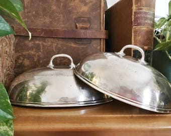 Set of 2 Antique Silver Domes from The New Florence Hotel in Birmingham AL