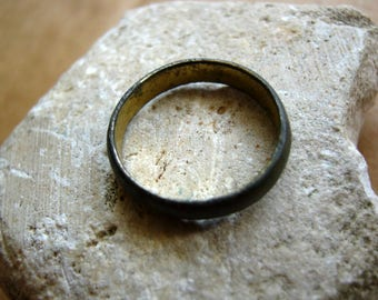 Antique vintage old ring relic of gilding
