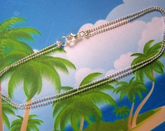 Ankle Bracelet Sterling Faceted Ball Chain Chain Anklet
