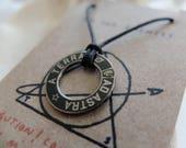 Black Meteorite Dust Necklace- Men's/Women's Astronomy Necklace - Space Jewelry