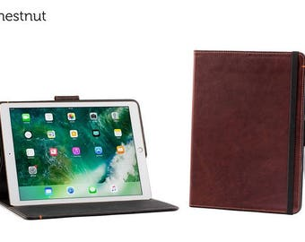 The Oxford Leather iPad Pro 12.9 Case with Pencil Holder - Chestnut | Leather iPad Pro Case, Leather iPad Case, Leather iPad Cover