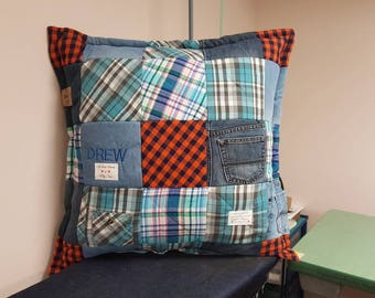 Personalized Patchwork memory pillow