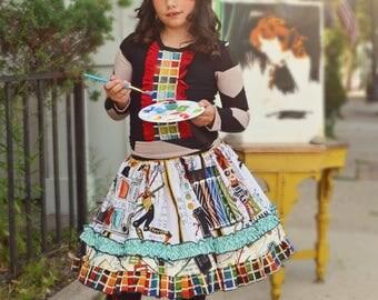 Girls Little Artist twirly skirt