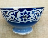 Antique FRENCH Cafè au lait BOWL Saint Amand blue & white, Antique French cafè au lait bowl, french ceramic bowl, vintage french bowl