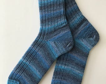 Knitted Socks, Men , Stabil Bamboo, Hand Cranked