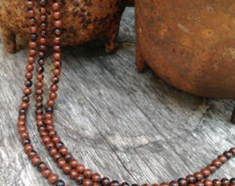 Authentic Red/Mahogany OBSIDIAN - 10mm Perfectly Round Brown/Red/Black Full Strand Beads - Natural Obsidian Perfect For Wrap Bracelets!