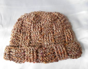100% BABY Alpaca Hat - Multi Color - Adult Size
