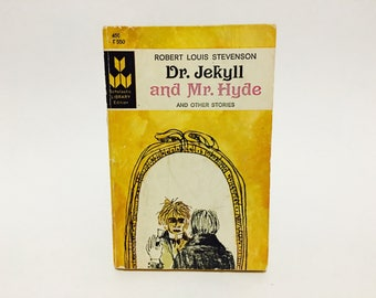 Vintage Horror Book Dr. Jekyll and Mr. Hyde and Other Stories by Robert Louis Stevenson 1966 Classics