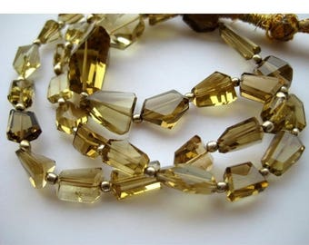 ON SALE 55% AAA Gems, Beer Quartz Beads, Faceted Nugget Beads, Faceted Beer Quartz, 5mm To 18mm, 18 Inch Strand, 36 Pieces Approx