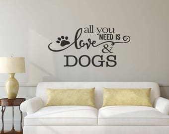 Beau Dog Wall Decal   Pet Gift   Wall Decals   Wall Stickers   Wall Decor