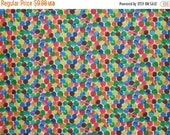 ON SALE Very Hungry Caterpillar Allover Dot Print Pure Cotton Fabric--By the Yard