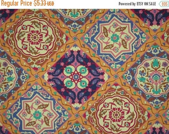 ON SALE SPECIAL--Allover Geometric Isfahan Print Pure Coton Fabric--One Yard