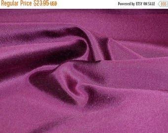 ON SALE Dark Magenta Silk and Wool Alaskine Fabric--One yard