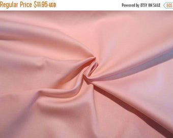 ON SALE Yummy Peachy Pink Pure Cotton Gabardine Fabric--By the Yard
