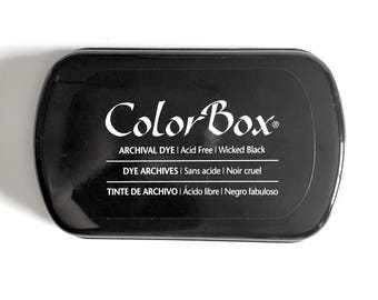Black Ink Pad: Color Box Archival Dye ink