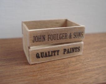Dollshouse miniature crate - 1:12th one inch scale crate - dollshouse crate - miniature box - wooden crate - vintage crate