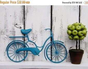 ON SALE Metal Bicycle Wall Art /TEAL/ Metal Bicycle / Metal Wall Decor / Nursery Decor