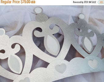 ON SALE Silver Crown Canopy /Above the Bed Crown   /  Crib  Canopy / Princess Crown / Princess Decor /Nursery Crown