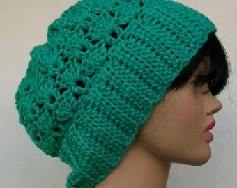 Crochet Teal Hat, Winter Hat, Crochet Beanie, Handmade Head Cover, Teal Beanie, Teal Head Cover, Winter Head Cover