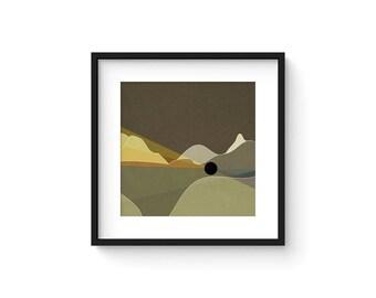 LANDSCAPE & BEYOND no.98 - Abstract Modern Minimalist Landscape Mid Century Style Art Print