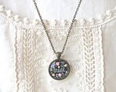 SUMMER SALE Trust Necklace - Trust Charm - Trust Pendant - Trust in the Journey - Inspirational Word Pendant - Mantra Pendant- Faith and Tru