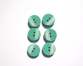 4 - Set of 6 buttons green and light green 1. CMS