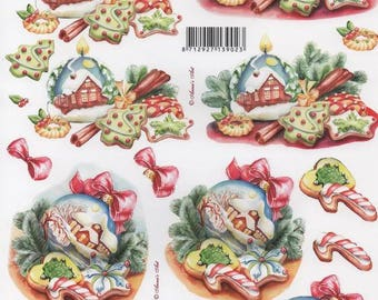 54 - Image sheet by cutting candy and Christmas houses