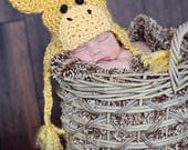 LOWEST PRICE Sale CIJ Giraffe Hat - Baby Giraffe Hat -  Baby Hats - Halloween Costume - Cute and Soft Earflap - by JoJosBootique