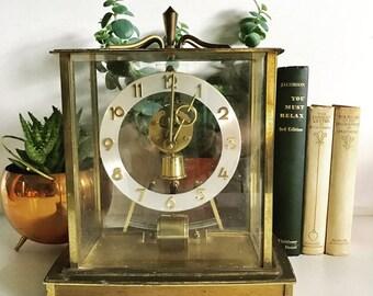 Midcentury Brass Kieninger & Obergfell Kundo Electronic German Mantle Clock