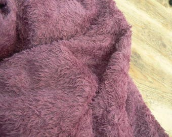 1/8 metre of viscose, hand dyed in victorian plum