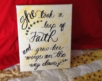 Leap of Faith Canvas