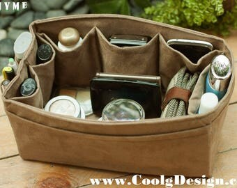 Extra sturdy purse organizer insert for louis vuitton Speedy 25 in faux suede light brown