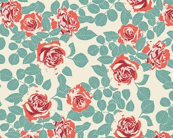 Shabby Chic Fabric for Baby, Boho Chic Nursery, Cottage Chic, Blush Pink Baby Decor, PRUNING ROSES WOODLAND, Art Gallery Cotton Fabric