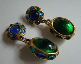Earrings in the style of Yves Saint Laurent