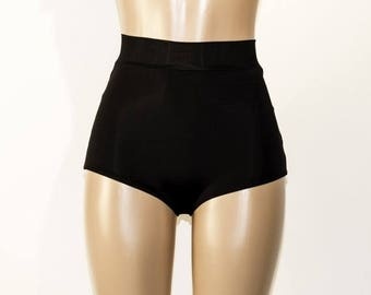 ON SALE Ready To Ship - Matte Black High Waist Bikini Bottom - XS-Xxl