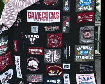 T-Shirt Quilt Custom Order Memory Quilt, Order yours today, Queen Size