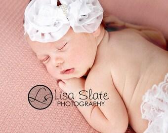 10% SALE Baby headband, newborn headband, adult headband, child headband and photography prop The single  sprinkled- Ruffle Bow headband