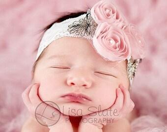 10% SALE Baby headband, newborn headband, adult headband, child headband and photography prop The Marissa sprinkle headband